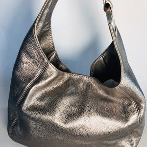 Beautiful Silver Michael Kors Large Hobo
